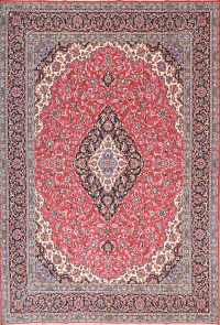 Soft Plush Floral 10x14 Kashan Persian Area Rug