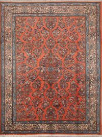 Vintage All-Over Floral 8x11 Sarouk Persian Area Rug
