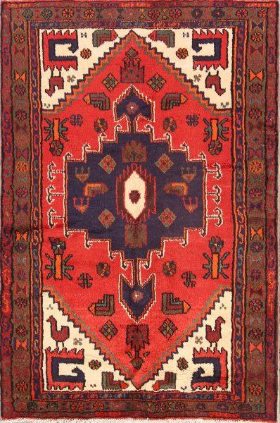 Geometric 3x5 Hamedan Persian Area Rug