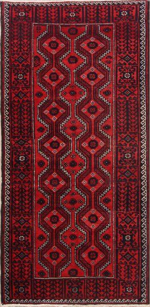 Geometric 4x8 Balouch Persian Rug Runner