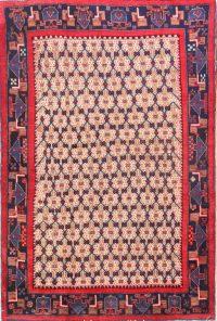 Geoemtric 4x6 Koliaei Hamadan Persian Area Rug