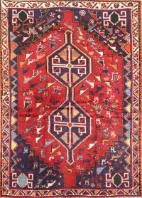 Pictorial 5x7 Shiraz Persian Area Rug