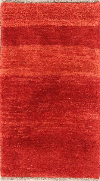 Solid 2x4 Gabbeh Shiraz Persian Area Rug