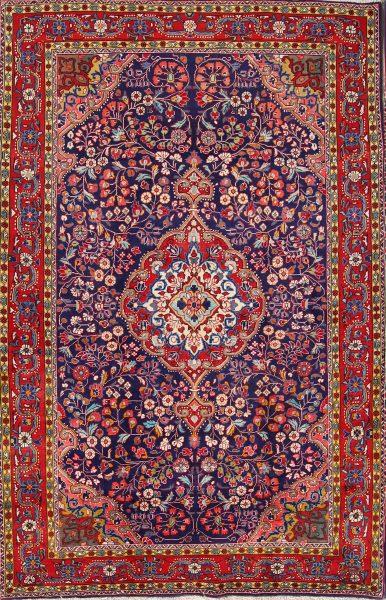 Floral 5x7 Sarouk Persian Area Rug