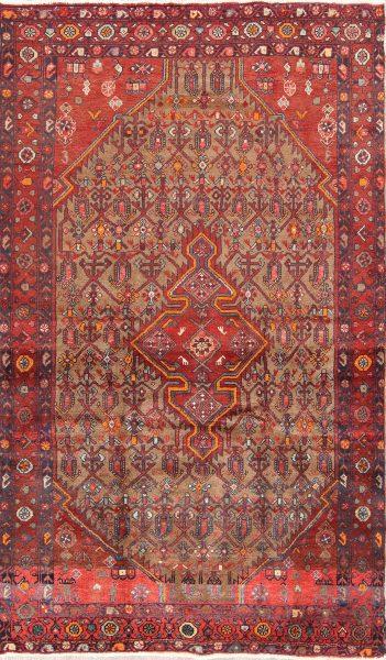 Geometric 5x8 Koliaei Hamedan Persian Area Rug