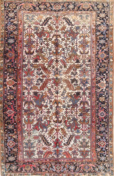 All over Design 7x10 Heriz Persian Area Rug