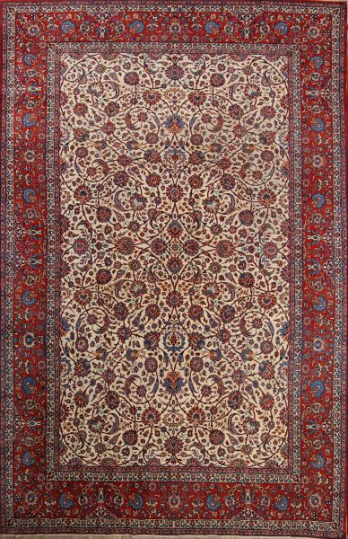 Floral 10x17 Isfahan Persian Area Rug