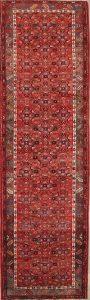 Geometric 4x13 Hamedan Persian Rug Runner