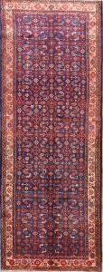 Floral  4x10 Hamedan Persian Rug Runner