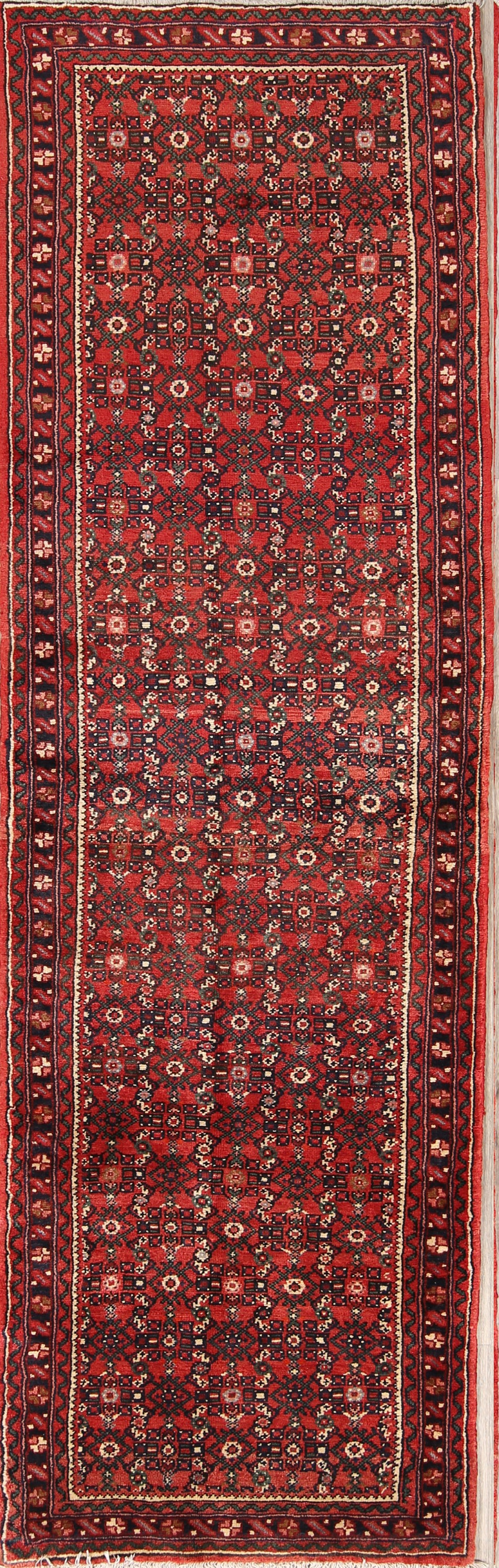 All-Over Floral 3x10 Hamedan Persian Rug Runner