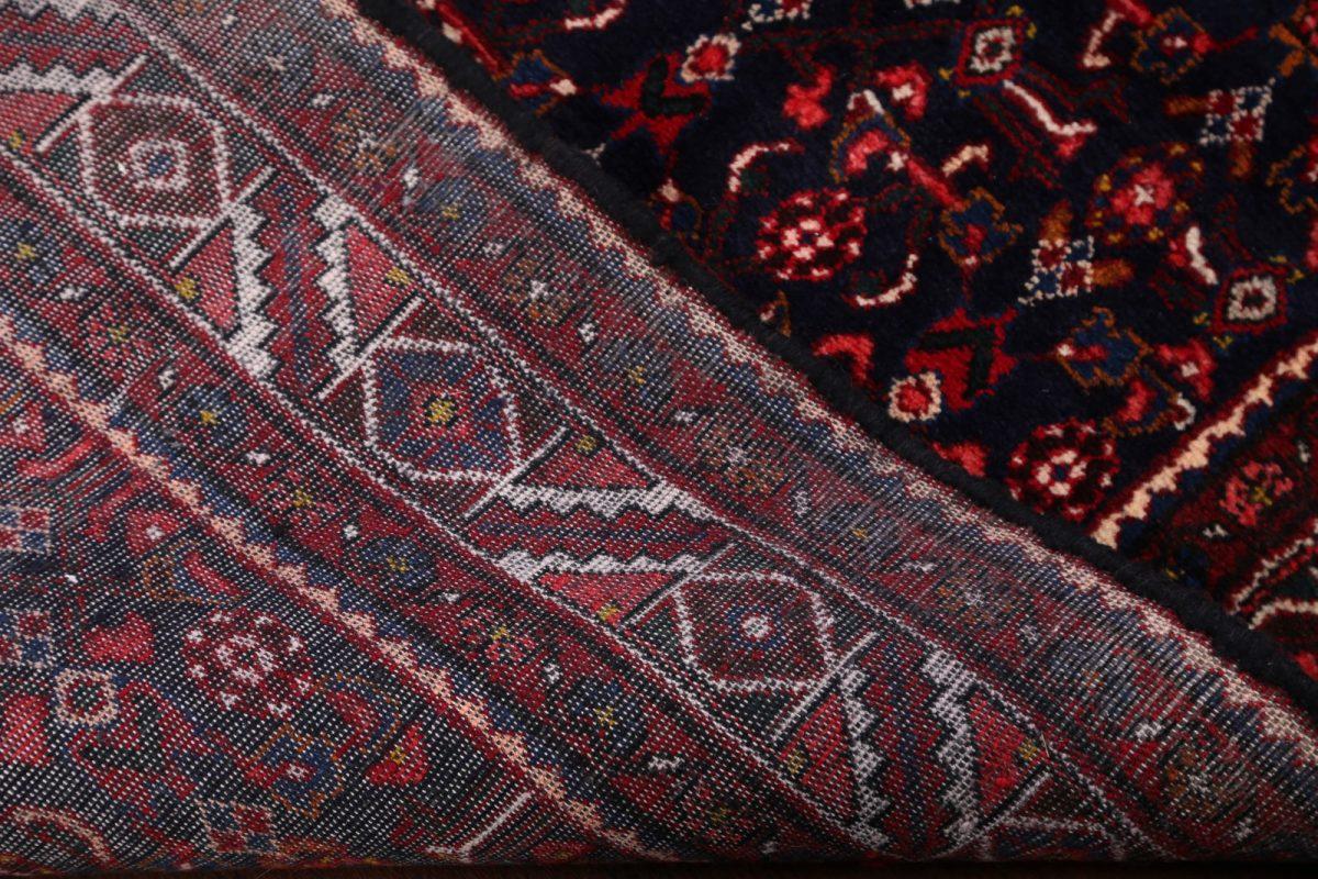 All-Over Navy 4x10 Hamedan Persian Rug Runner