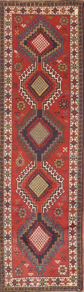 Geometric Tribal 3x9 Shiraz Persian Rug Runner