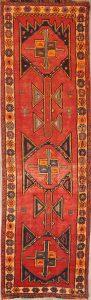 Geometric Tribal Scarlet 4x13 Lori Shiraz Persian Rug Runner