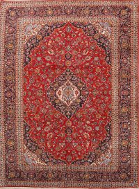 Floral 10x14 Kashan Persian Area Rug