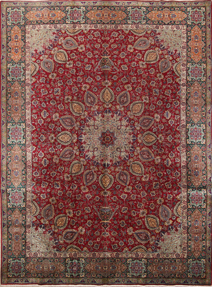 Medallion 10x13 Tabriz Persian Area Rug