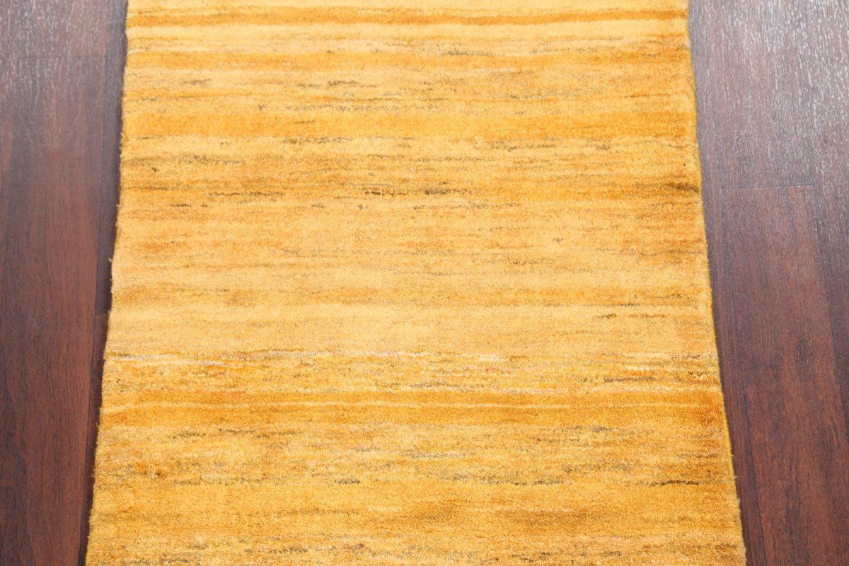 Vegetable Dye Solid 3x4 Gabbeh Zolanvari Rug Runner