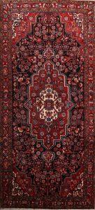 Geometric Black 5x12 Nahavand Hamedan Persian Rug Runner