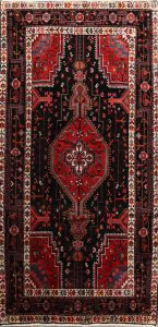 Geometric Tribal 5x10 Hamedan Persian Area Rug