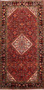 Geometric 5x10 Hamedan Persian Rug Runner