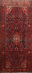 Geometric 5x11 Hamedan Persian Rug Runner