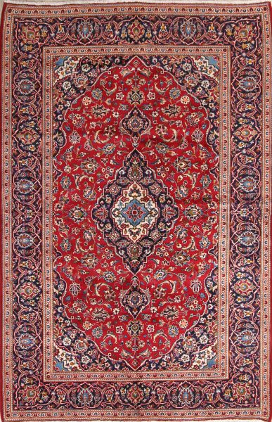 Floral 7x10 Kashan Persian Area Rug