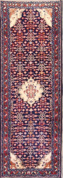 Geometric 4x10 Lilian Hamedan Persian Rug Runner