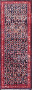 All-Over Floral 3x9 Sarouk Persian Rug Runner