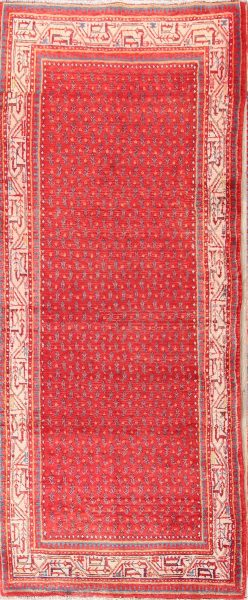 All-Over Boteh  4x9 Botemir Persian Rug Runner