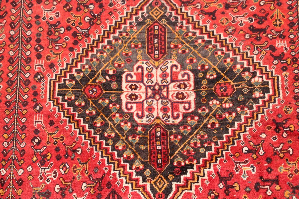 Geometric Tribal 5x8 Abadeh Shiraz Persian Area Rug