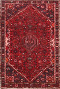 Geometric Tribal Nomad 6x8 Shiraz Persian Area Rug