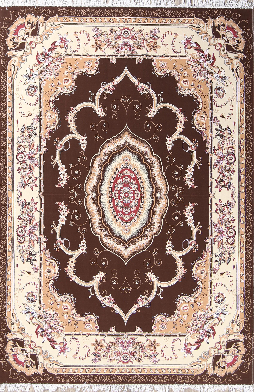 Soft Plush Floral 7x10 Tabriz Persian Area Rug
