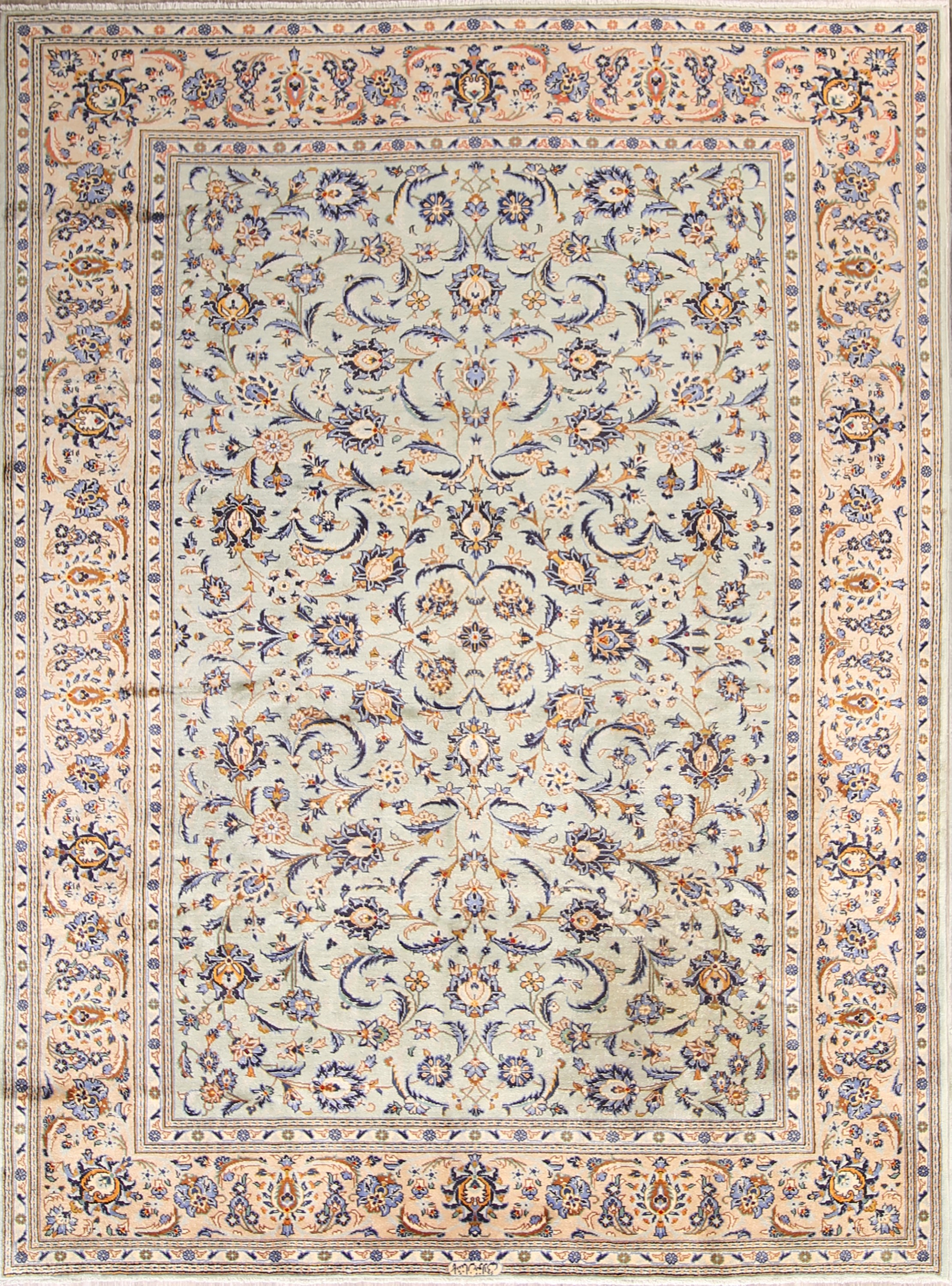 Floral 8x11 Kashan Persian Area Rug