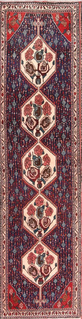 Geometric 3x11 Bidjar Persian Rug Runner