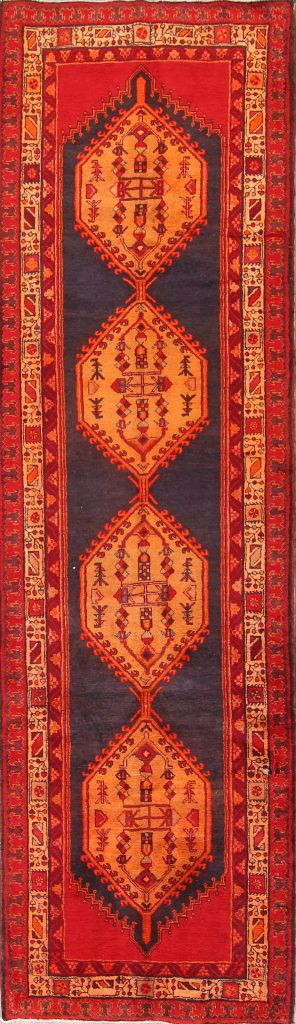 Geometric 4x13  Ardebil Heriz Persian Rug Runner