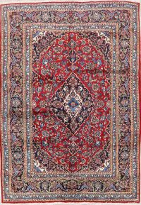 Floral 7x10 Mashad Persian Area Rug