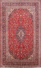 Floral 10x16 Kashan Persian Area Rug