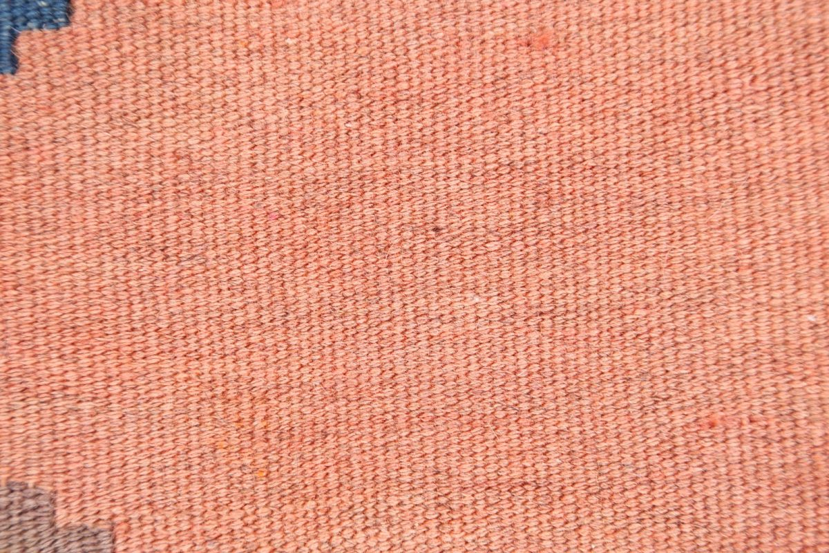 Flat-Woven Tribal Salmon 4x6 Kilim Shiraz Persian Area Rug