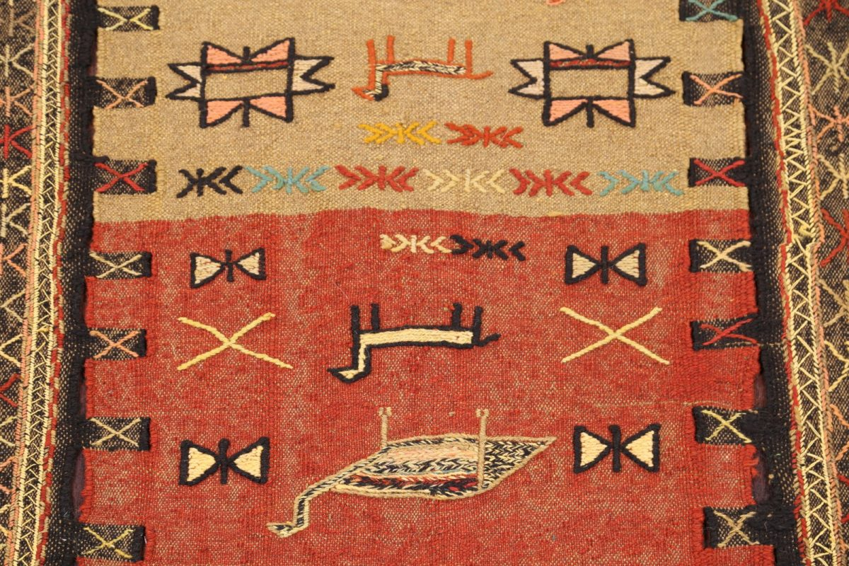 Little Animals Tribal Nomad 4x6 Kilim Shiraz Persian Area Rug