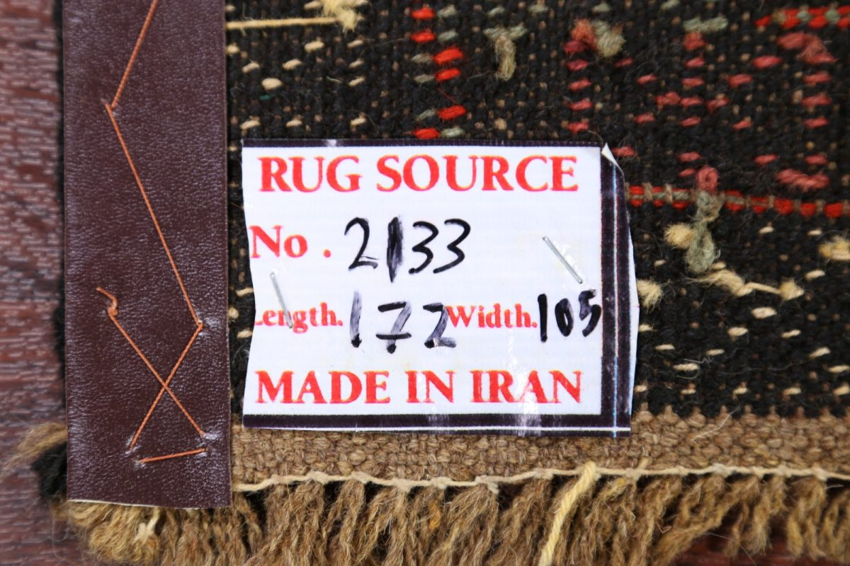 Tribal Animal Character Nomad 3x6 Kilim Persian Rug Runner