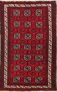Geometric Foyer Size 4x6 Balouch Persian Area Rug