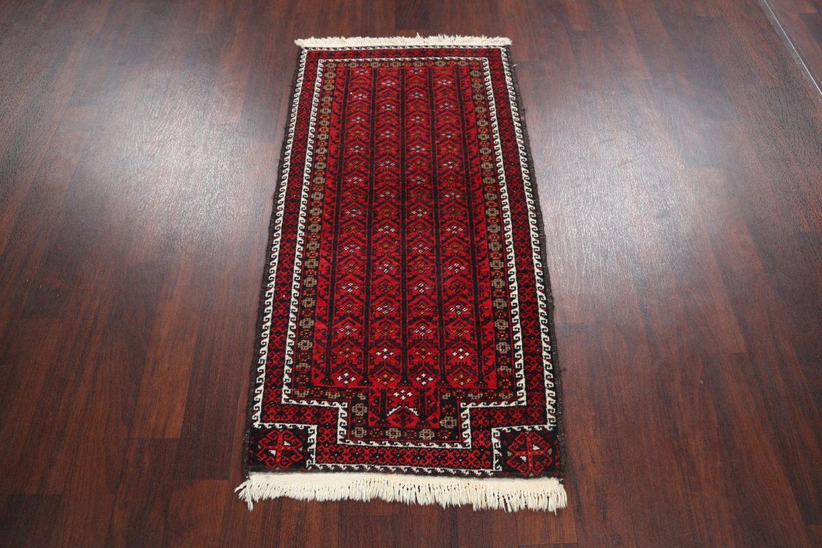 Tribal  2x5 Balouch Afghan Oriental Rug Runner