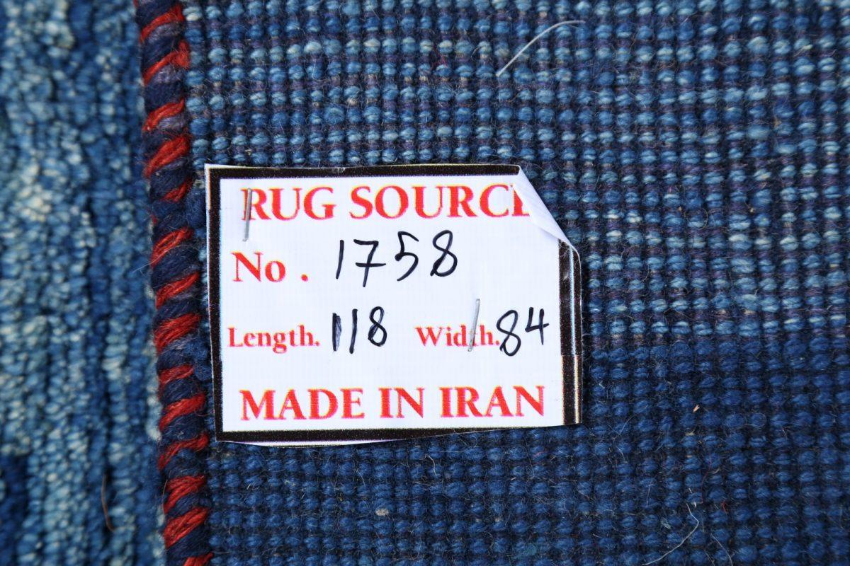 Light Blue Nomad Tribal 3x4 Gabbeh Shiraz Persian Area Rug