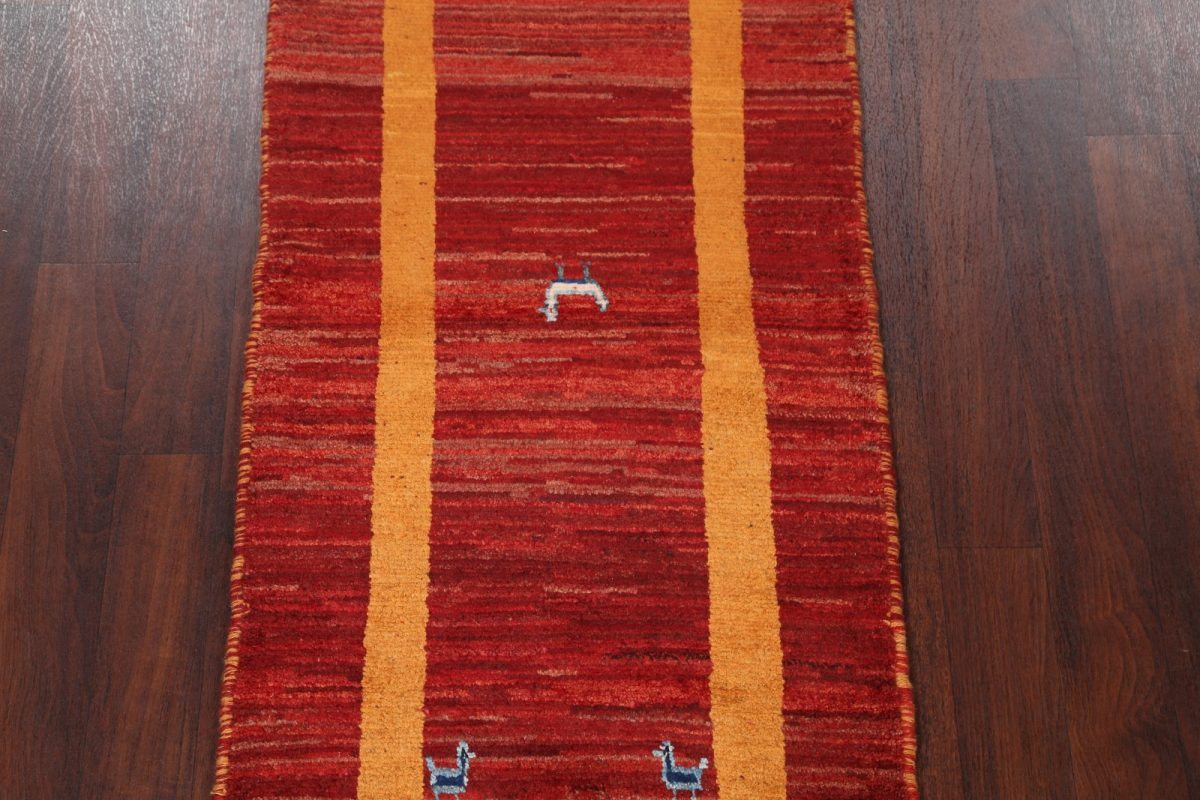 Little Animals Nomad 3x6 Gabbeh Shiraz Persian Rug Runner