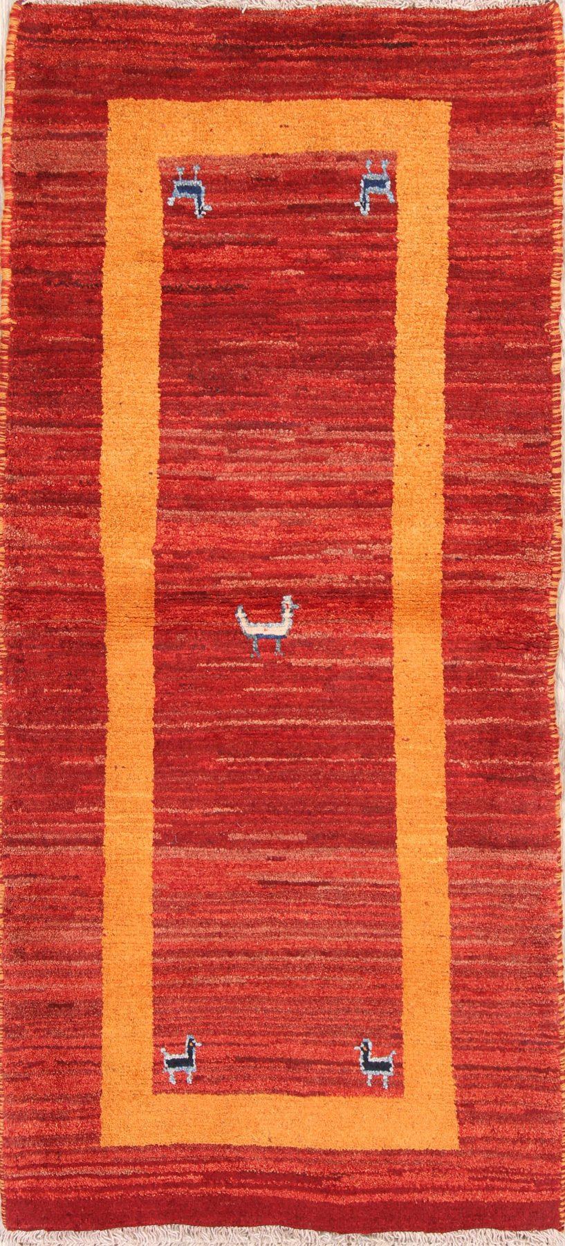 Little Animals Nomad 3x6 Gabbeh Shiraz Persian Rug Runner
