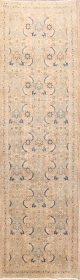 Floral Muted 4x13 Sultanabad Sarouk Persian Rug Runner