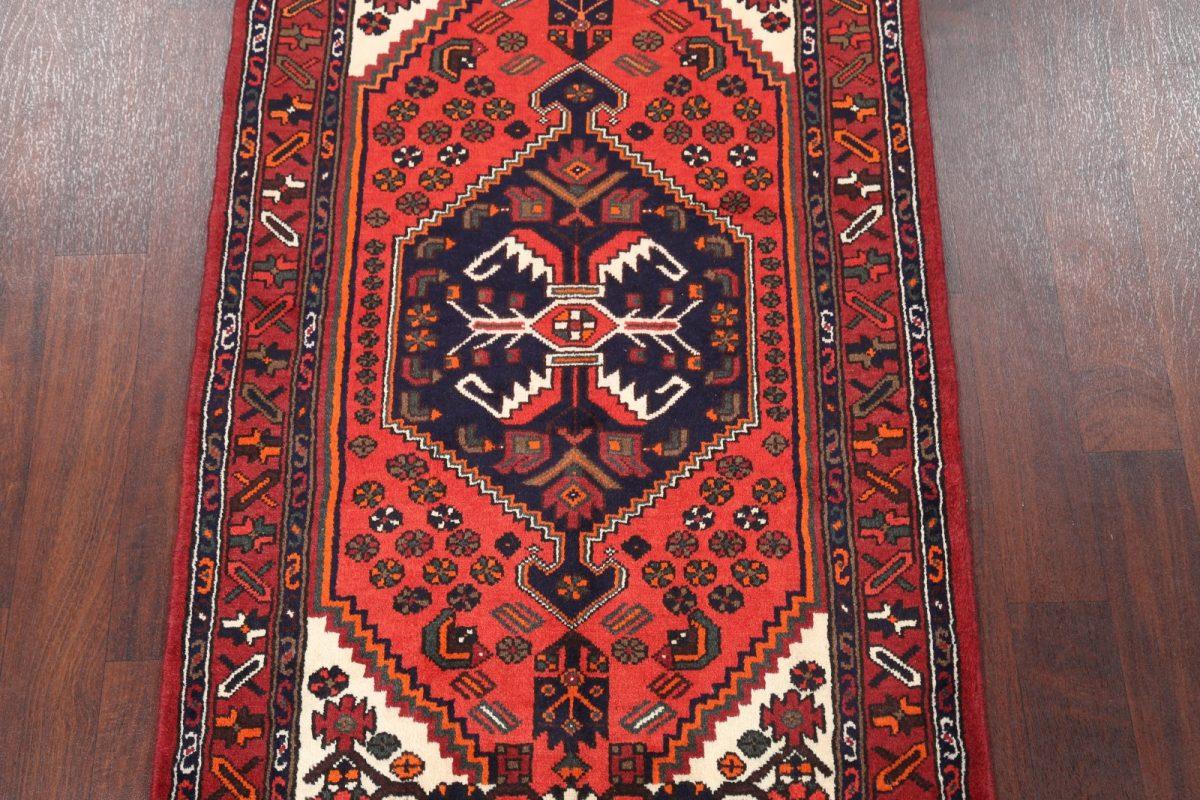 Geometric Tribal  3x6 Hamedan Persian  Rug Runner