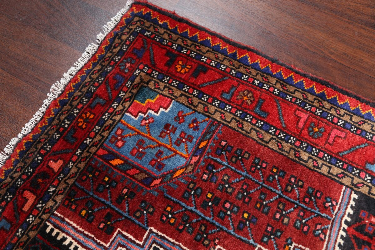 Geometric Tribal 4x6 Hamedan Persian Area Rug