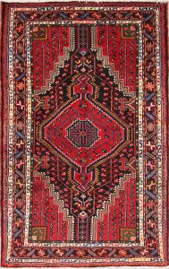 Geometric Tribal 3x5 Zanjan Persian Area Rug