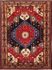 Geometric Tribal 4x6 Hamedan Malayer Persian Area Rug