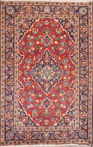 Traditional Floral Red 3x5 Kashan Persian Area Rug